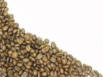 Coffee beans wave shape Royalty Free Stock Images