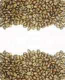 Coffee beans wave shape Royalty Free Stock Photography