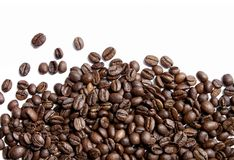 Coffee beans on white Royalty Free Stock Image