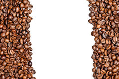 Coffee beans on white. Background Stock Photography