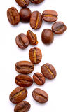 Coffee beans on white Stock Photos