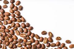 Coffee beans on white Royalty Free Stock Photography