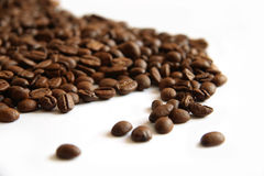 Coffee beans on white Stock Photography