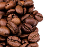 Coffee beans background on white background Royalty Free Stock Photos