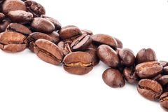 Coffee beans. On white background Royalty Free Stock Photography