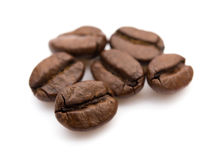 Coffee beans. On a white background Stock Images