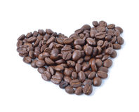 Coffee beans. On white background Royalty Free Stock Images