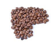 Coffee beans. On white background Stock Photo
