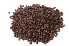 Coffee beans. On white background Stock Image