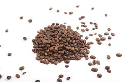 Coffee beans, white background. Coffee beans on white background Royalty Free Stock Image