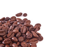 Coffee beans  on white background. Coffee beans  on a white background Royalty Free Stock Photo