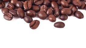 Coffee beans  on white background. Coffee beans  on a white background Royalty Free Stock Photos
