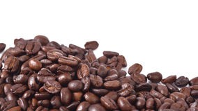 Coffee beans  on white background. Coffee beans  on a white background Royalty Free Stock Photography