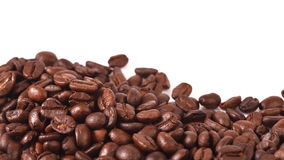 Coffee beans  on white background. Coffee beans  on a white background Royalty Free Stock Images