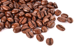 Coffee beans. On white background Stock Images
