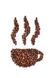 Coffee beans. On white background Royalty Free Stock Image