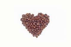Coffee beans on white background. Coffee bean  white background  cup Stock Photography