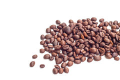 Coffee beans on white background. Coffee bean  white background  cup Stock Images