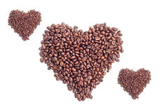 Coffee beans on white background. Coffee bean  white background  cup Royalty Free Stock Photography