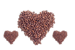 Coffee beans on white background. Coffee bean  white background  cup Stock Photos