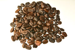Coffee beans on a white background. Stock Photos