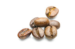 Coffee beans on white background Stock Photography