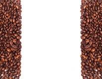 Coffee beans on white background Stock Photos