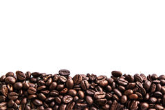 Coffee beans. On white background for cafe for hot Royalty Free Stock Photography