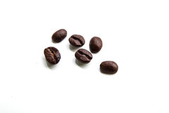 Coffee beans. On white background for cafe for hot Royalty Free Stock Photo