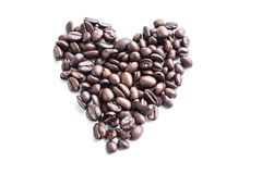 Coffee beans. On white background for cafe for hot Stock Images