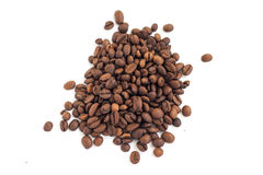 Coffee beans on white background Royalty Free Stock Image