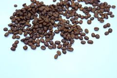 Coffee beans on white background. Detail of coffee beans on white background Stock Photos