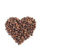 Coffee beans on white background Royalty Free Stock Photo