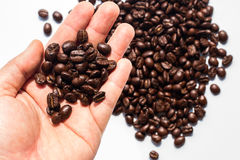 Coffee beans on white background. Isolate stock photo