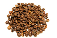 Coffee beans  on white background. Coffee beans isolated on white background Royalty Free Stock Images