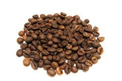 Coffee beans  on white background. Coffee beans isolated on white background Stock Photos
