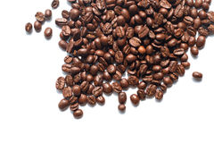 Coffee beans on white background. Isolated royalty free stock image