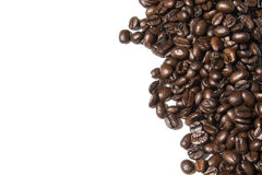 Coffee beans white background photo. Beautiful picture, background, wallpaper stock image