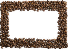 Coffee beans on a white background Stock Image