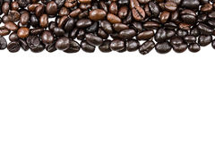 Coffee beans on white background and texture Royalty Free Stock Image