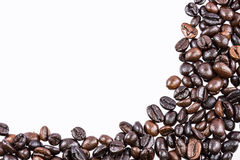 Coffee beans on white background and texture Stock Photo