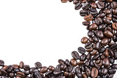 Coffee beans on white background and texture Stock Image