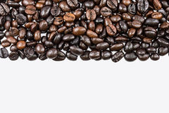 Coffee beans on white background and texture Stock Photography