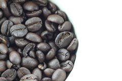 Coffee beans in white cups. Royalty Free Stock Photos