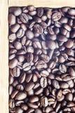 Coffee beans on the white ground Stock Photo