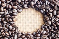 Coffee beans on the white ground Royalty Free Stock Photo