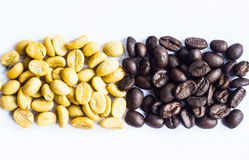 Coffee beans on the white ground Stock Image