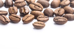 Coffee Beans On White Stock Image