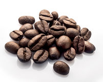 Coffee beans. Whole coffee beans on white background Stock Image