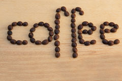 Coffee beans on a wood Stock Photo